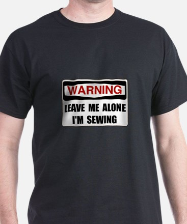 Warning Sewing T-Shirt