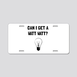 Watt Watt Aluminum License Plate