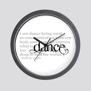 Dance Quote Wall Clock