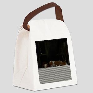 Gerard ter Borch - A Maid Milking Canvas Lunch Bag