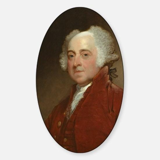 Gilbert Stuart - John Adams Sticker (Oval)