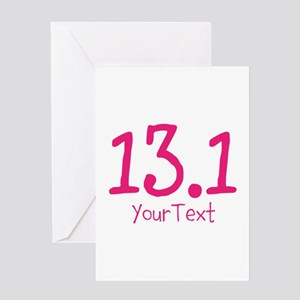 Customize PINK 13.1 Greeting Cards