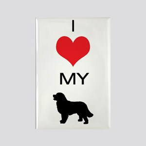 i heart my newfoundland Rectangle Magnet