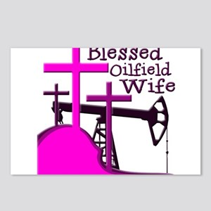 Bless Oilfield Wife- Three Crosses Postcards (Pack