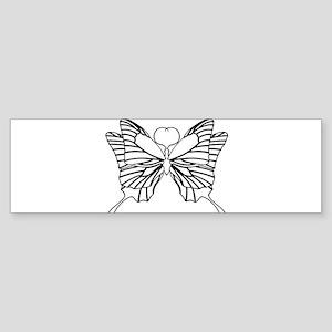 Tribal Butterfly Bumper Sticker