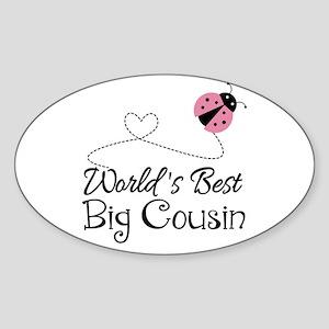 World's Best Big Cousin Sticker (Oval)
