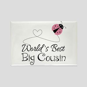 World's Best Big Cousin Rectangle Magnet