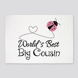 World's Best Big Cousin 5'x7'Area Rug
