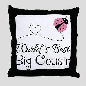 World's Best Big Cousin Throw Pillow