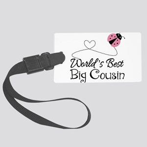 World's Best Big Cousin Large Luggage Tag