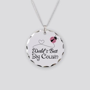World's Best Big Cousin Necklace Circle Charm