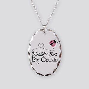 World's Best Big Cousin Necklace Oval Charm