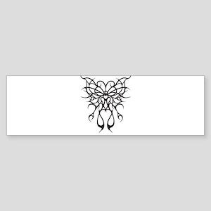 Tribal Thorned Butterfly Bumper Sticker