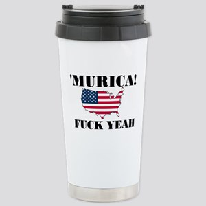 Murica Fuck Yeah Stainless Steel Travel Mug
