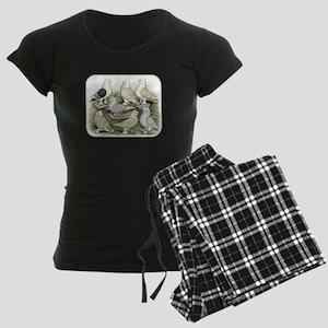 Classic Frill Pigeons Satinettes Pajamas