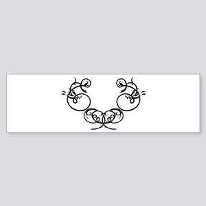 Oriental Tribal Design Bumper Sticker