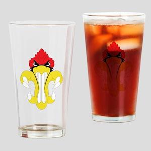 Cardinal Fleur De Lis Drinking Glass