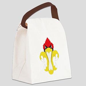 Cardinal Fleur De Lis Canvas Lunch Bag