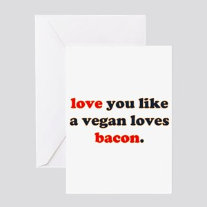 Vegan Bacon Greeting Card
