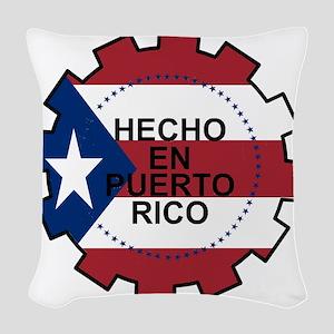 Hecho en Puerto Rico Woven Throw Pillow