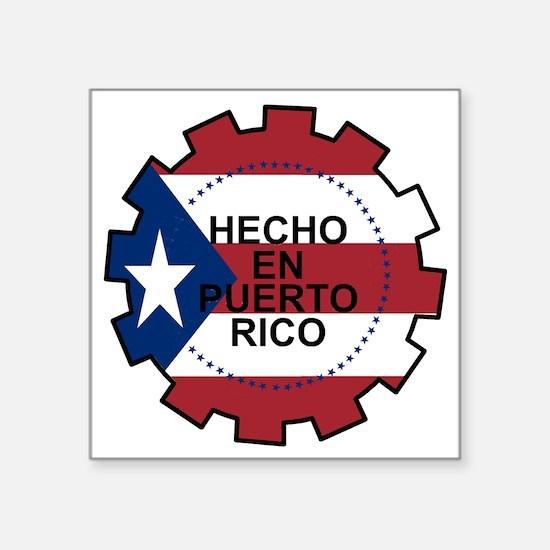 """Hecho en Puerto Rico Square Sticker 3"""" x 3"""""""