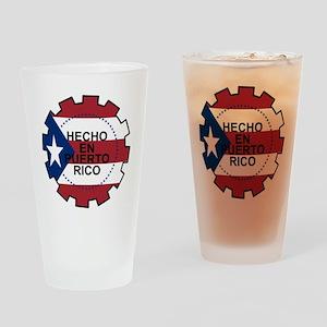 Hecho en Puerto Rico Drinking Glass