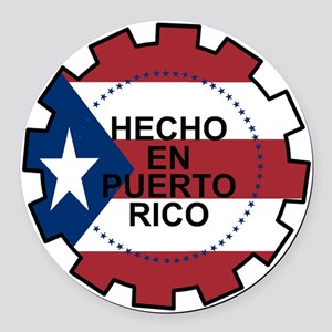 Hecho en Puerto Rico Round Car Magnet