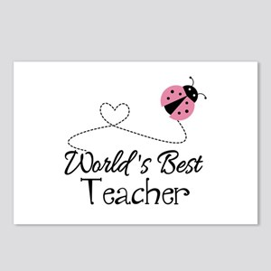 World's Best Teacher Postcards (Package of 8)