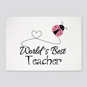 World's Best Teacher 5'x7'Area Rug