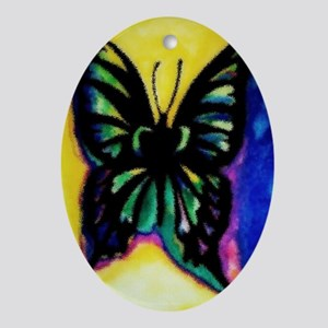 BUTTERFLY-FOR MY SISTER Oval Ornament