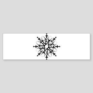 Tribal Snowflake Bumper Sticker