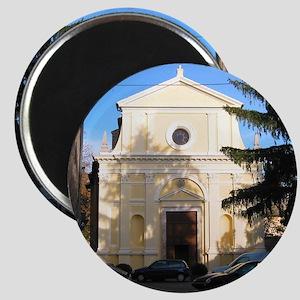 Yellow Church Magnet