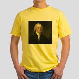 Gilbert Stuart - James Madison Yellow T-Shirt