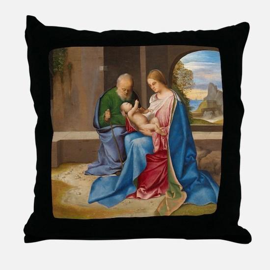 Giorgione - The Holy Family Throw Pillow