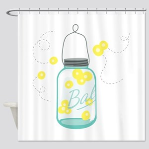 LIGHTNING BUGS Shower Curtain