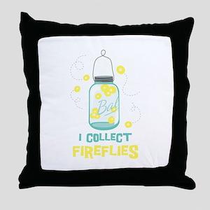 I COLLECT FIREFLIES Throw Pillow