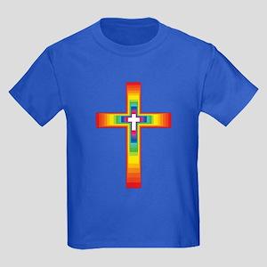 Colorful Cross Kids Dark T-Shirt