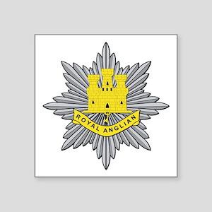 "Royal Anglian Square Sticker 3"" x 3"""