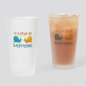 ID RATHER BE BACKPACKING Drinking Glass