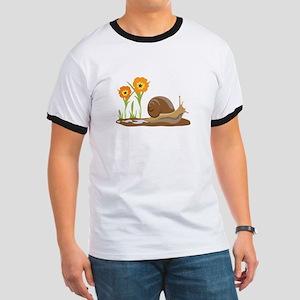 Snail Flowers T-Shirt