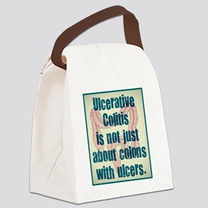 Ulcerative Colitis (front) Canvas Lunch Bag