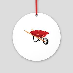 Red Wheelbarrow Ornament (Round)