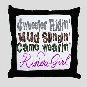 camo wearin,  Throw Pillow