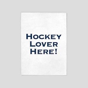 Hockey Lover 5'x7'Area Rug