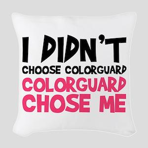 Colorguard Chose Me Woven Throw Pillow
