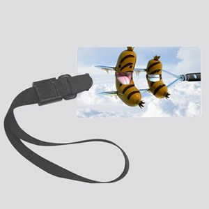 flying dogs Large Luggage Tag