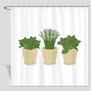 Herb Plants Shower Curtain