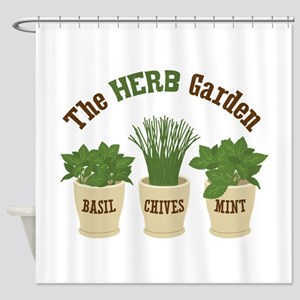 The HERB Garden Shower Curtain