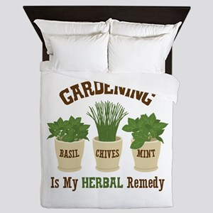 GARDENING IS MY HERBAL Remedy Queen Duvet