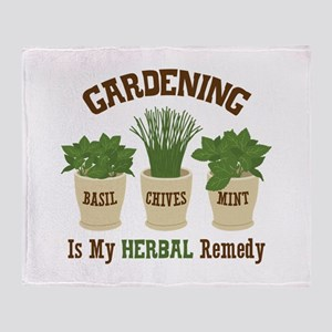 GARDENING IS MY HERBAL Remedy Throw Blanket